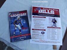 Dec 2011 Buffalo Bills Game Day Program v Miami Dolphins George Wilson Cover NFL