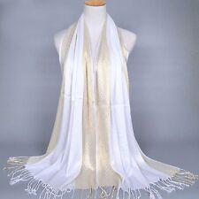Womens Ladies Muslim Long Cotton Shawl Scarf Tassel Scarves Stole Wrap Pashmina