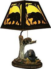 Bear Table Lamp Rustic Decor Wildlife Man Cave Cabin Lodge Gift Home Shade New