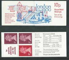 1980 FA10 10p London,  Folded Booklet Perf P, Low 1p variant