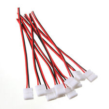 10 pcs PCB 2 PIN LED strip connector with cable for 3528/5050 single color C5C8
