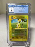 Pokemon Aquapolis Ampharos Reverse Holo 1/147 Mint CGC 9 PSA