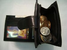 Gents Soft Leather Wallet With Large Zipped Coin Pocket,With Card Note SpaceRFID