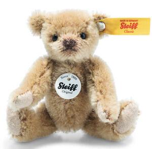 Steiff Mini Light Brown Teddy Bear - jointed mohair collectable - 9cm - 028168
