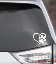 PUPPY I  LOVE MY DOG Window Sticker Vinyl Decal Small or Large! PAW PRINT HEART!