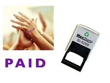 PAID HAND STAMP - suitable for Festivals, Parties, Pubs, Exhibitions etc...