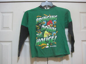 Angry Birds Hoodie~Bringing Down the House~Green~Size 6/7~LBDEO