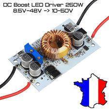 DC Boost 250W CC CV elevateur tension 8.5-48V alu PCB 150KHz LED driver charger