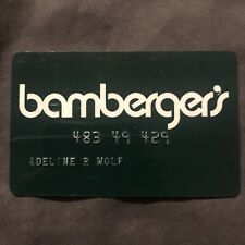 Vintage Bambergers Charge Credit Card Red Collectible