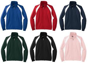 Sport-Tek Women's Full Zip Golf Casual Athletic Windshirt Jacket NEW L712