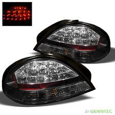 For 1999-2005 Pontiac Grand AM LED Black Tail Lights Rear Brake Lamp Pair New