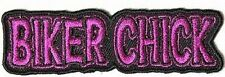 BIKER CHICK PINK MC Club Fun Ladies Embroidered Motorcycle Biker Patch PAT-3373