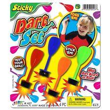 Sticky Darts Set Soft Sticky Tips 4pc Reusable JaRu Ages 6+ New