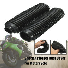 Pair Black Motorcycle Fork Rubber Gaiters Boots Gaitor For CQR 245x58x39mm m