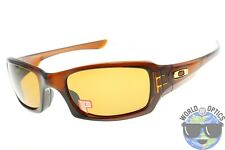 Oakley Fives Squared Sunglasses OO9238-08 Polished Rootbeer w/ Bronze Polarized
