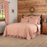 VHC Sawyer Mill Red Ticking Stripe Quilt (Your Choice Size & Accessories)