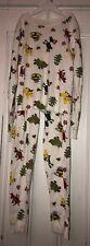 Hanna Andersson Girls White Christmas Animal Trees Pajamas Sz 130 US 8