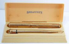 Vtg 1920s Sheaffer Gold Filled Pen & Pencil Set w Original Pre-Plastic Case