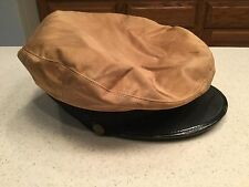 Vintage  Military Hat Cap Size 7 Anchor Cloth Hat Much Staining Used