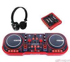 DJ Tech myScratch Pack USB DJ MIDI Controller w/ Headphones & Sound Interface