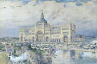 Childe Hassam A View Of The World'S Columbian Expo Chicago Giclee Canvas Print