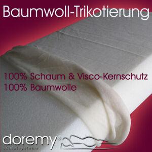 Baumwoll Trikotage / Schutz für Schaumzuschnitte, Matratzenkerne & Auflagenkerne