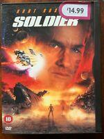 Soldier DVD 1998 Fantascienza Azione Film W/ Kurt Russell IN Snapper Custodia