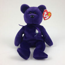 TY Beanie Baby - PRINCESS DIANA the Purple Teddy Bear (1997 -RETIRED) MWMTs MINT