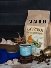 LACROI  Organic Coffee Beans Fresh Medium Roast, 2.2 LB, 100% Arabica