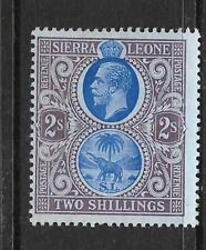 SIERRA LEONE  1912-21   2/-   KGV   MLH  SG 125