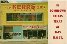 Kerr's Curio Shop in Downtown Dallas TX Postcard