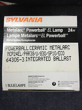 6 PIECES SYLVANIA 64305 MCP24EL/PAR38/U/830/SP10/ECO 24W METAL HALIDE LIGHT BULB