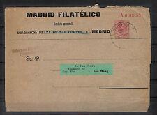 CATÁLOGO LAIZ. SOBRE ENTERO POSTAL. Nº 203. MADRID FILATELICO REVISTA MENSUAL.