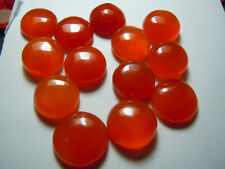 AAA Quality 25 Piece Natural Carnelian 3x3 mm Round Cabochon Loose Gemstone