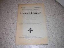 1928.revue internationale des sociétés secrètes.N°17.