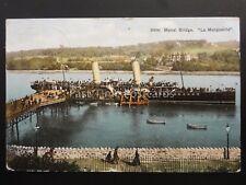 North Wales BANGOR Menai Bridge & La Marguerite Steam Ferry c1907