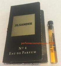 JIL SANDER No 4 PERFUME SAMPLE VIAL FOR WOMEN .05 OZ 1.5 ML EAU DE PARFUM DAB-ON