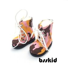 "Y05 BJD Yo-SD 1/6 Dollfie 13"" Effner Camouflage Pink LITTLE DARLING Doll Boot"