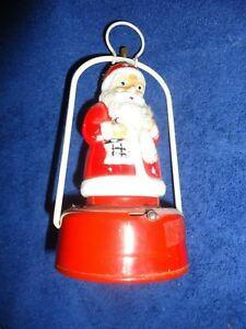 """Old vintage Battery Powered """"Santa Clause """" toy Lantern of 1950's . Made in Japa"""