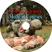 U.S. Army Medical Courses Practice Medicine Treatment Survival Wound 76 books CD