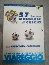 CARTOLINA VIAREGGIO 57 coppa CARNEVALE 2005 calcio football postcard Cup vintage