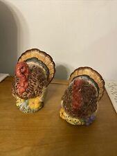 Fitz & Floyd Turkey Candle Holder Set Of 2