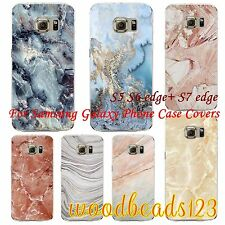 HOT! Nature Marble Texture Cover Case For Samsung S5 S6 S7 edge+ Clear TPU Skin