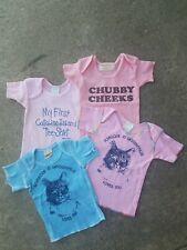 Lot of 4 Vintage Infant Baby (t-shirts) size 6 months New dead stock Condition