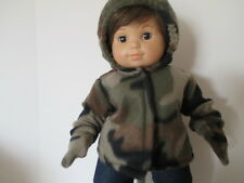 """camouflage Jacket for 15""""and 18"""" dolls"""