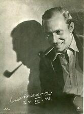 Carl RADDATZ  GRANDE PHOTOGRAPHIE ORIGINALE 24*18 avec RARE AUTOGRAPHE  en 1942