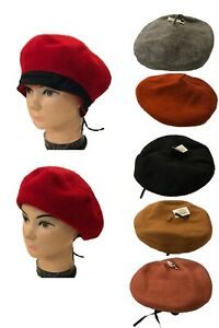 Women Delux Beanie Angora French Beret  Hat Cap