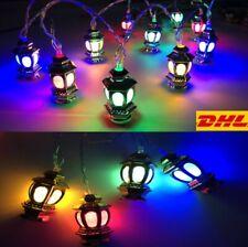 10 LED Eid Mubarak Ramadan Lichterkette Licht Mond Islam Muslim Hanging Deko