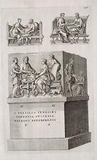 Sarkophag Grab Grabinschrift Grabmonument Marmor Rom Antike Relief Familie