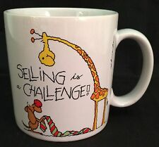 Vtg Russ Selling Is A Challenge 11 Oz Coffee Mug Cup Entrepreneur Salesman Gift
